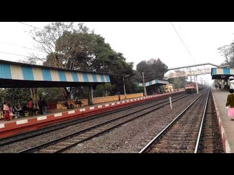 22817 up Howrah-Mysore Superfast Weekly exp skip ghoraghata (SER) at a good speed