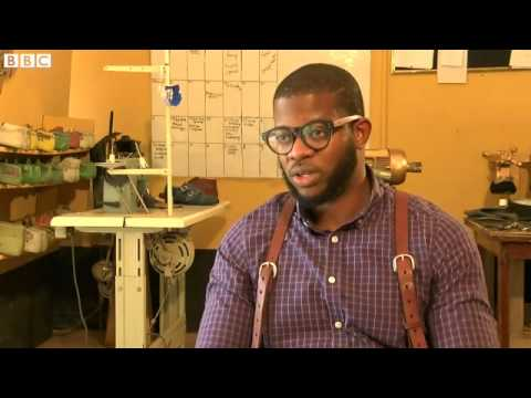 BBC News   African Dream  Tips from Ghana's banker turned shoemaker