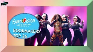 EUROVISION 2018 BOOKMAKERS: TOP 26 GRAND FINAL (Current Odds)