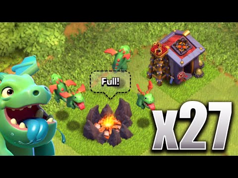 Clash of Clans - 27 BABY DRAGONS! (CoC New Update Troop!) All Baby Dragon Swarm!