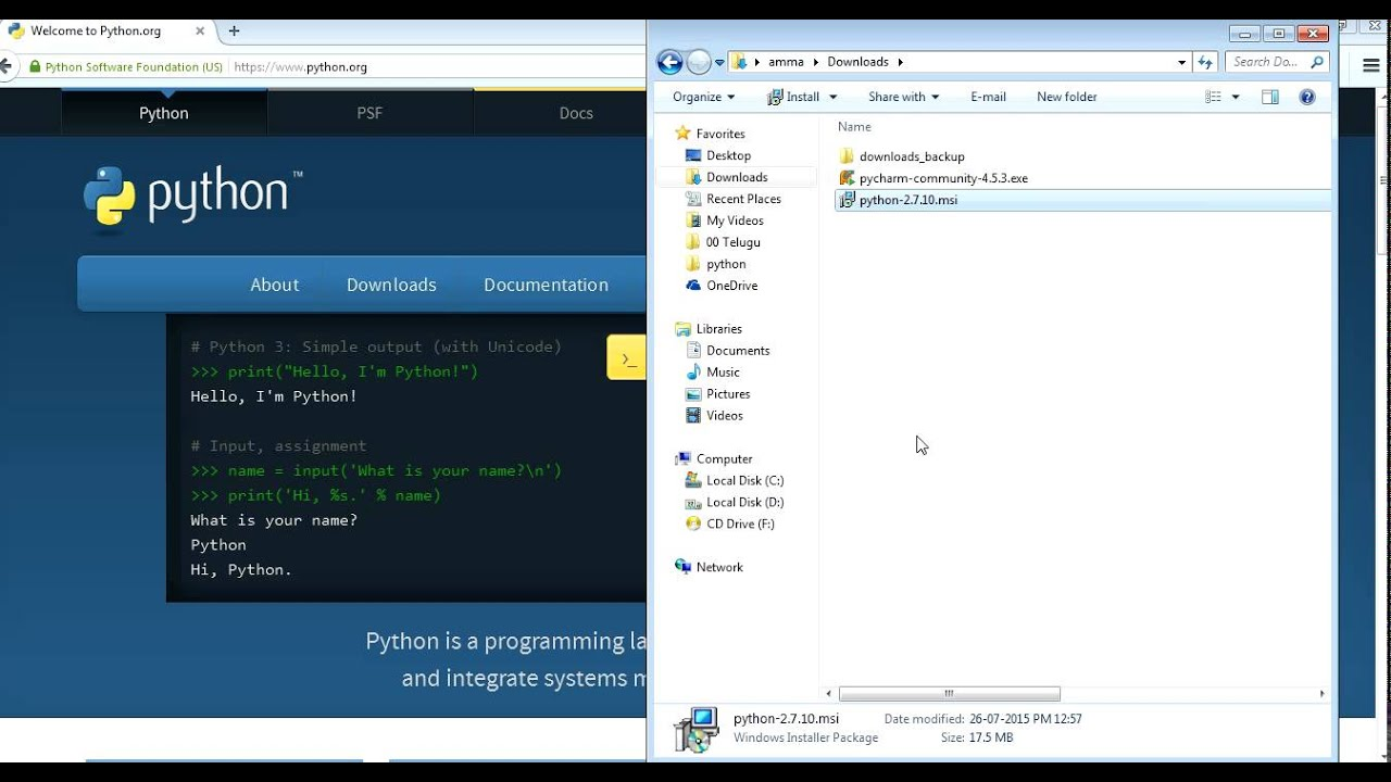 Python, pip and additional packages installation in windows