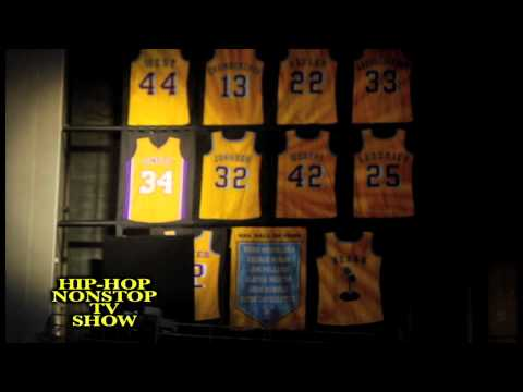 NBA: LAKERS Kobe Bryant, Shaq Number retired at Staples Center Mavs, Jack Nicholson and Dr. Dre
