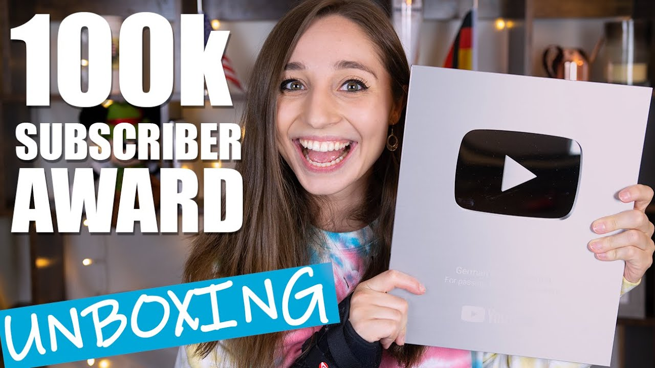 Unboxing my 100k SUBSCRIBER AWARD!   German Girl in America