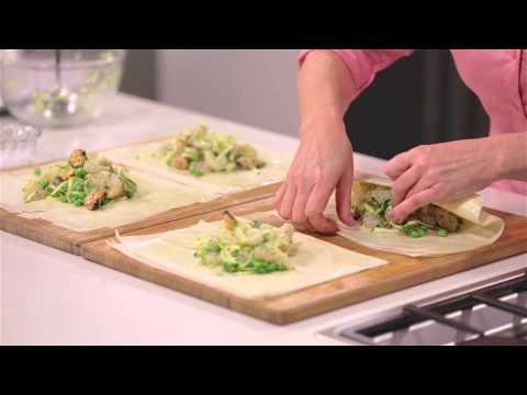 Fresh Seafood Filo Parcels
