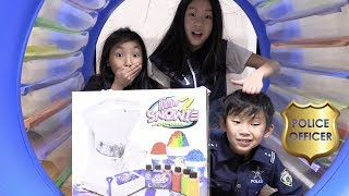 Pretend Play Fake Police for Free Snow Cone