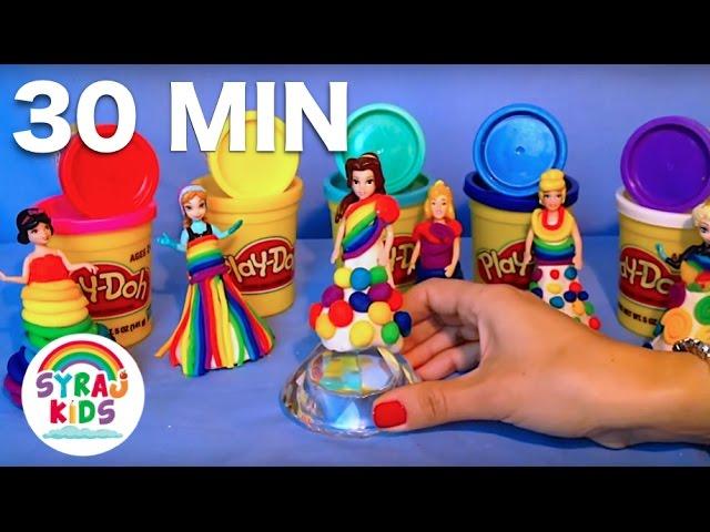 PLAY Disney Princess Play-Doh | 30 MINUTES | Syraj Kids | لعب باللغة العربية | أميرات ديزني