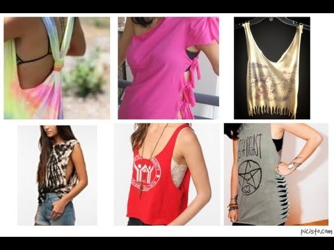 DIY - Transforma tus blusas - YouTube