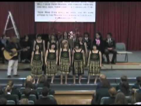 Haere Mai & E Papa sang by International Students of Rangiora Hight 2007