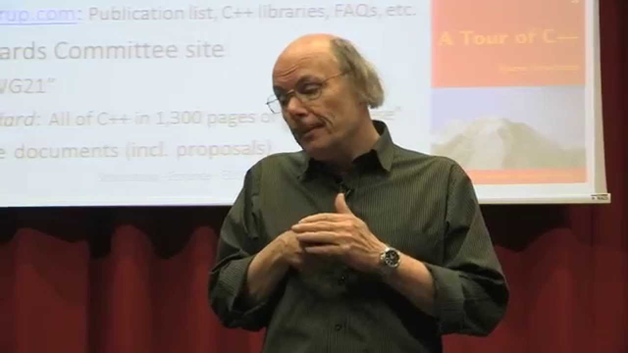 Bjarne Stroustrup - The Essence of C++ - YouTube