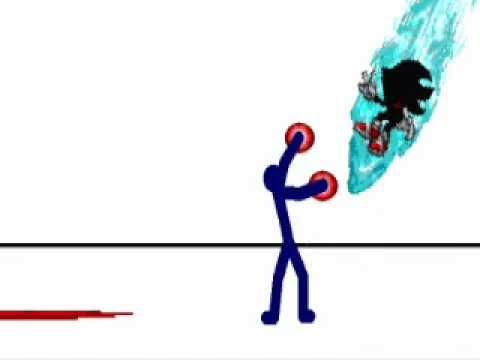 Sonic Vs Dark Stick Man - minecraft vs roblox draw a stickman epic 2 gameplay steve save noob best friend forever guideaz