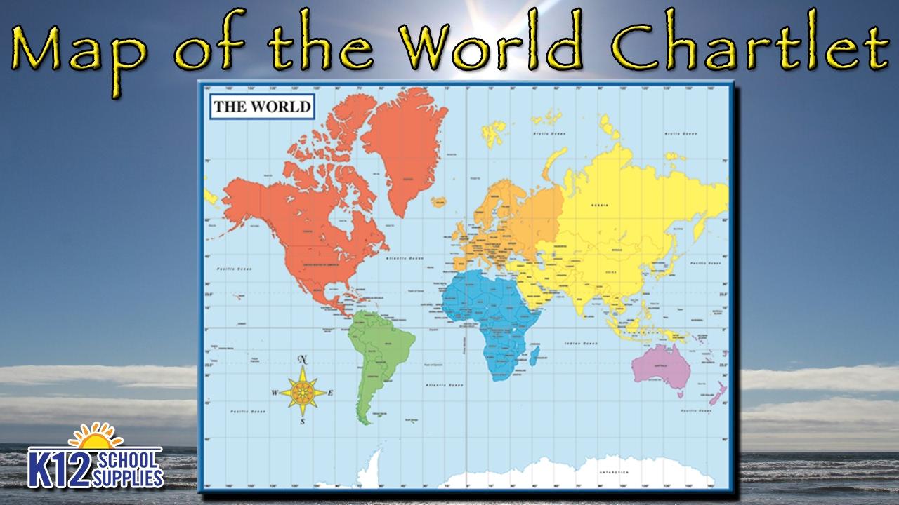 Best World Map Poster Wall Maps Teacher Supplies Youtube