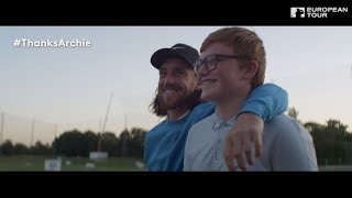 Tommy Fleetwood surprises 12 year old golfing fundraiser