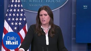 'He fights fire with fire': Sarah Sanders defends Trump's tweets - Daily Mail