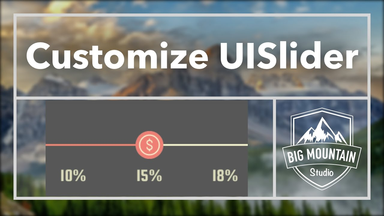 How to Customize the UISlider (iOS, Xcode 8, Swift 3)