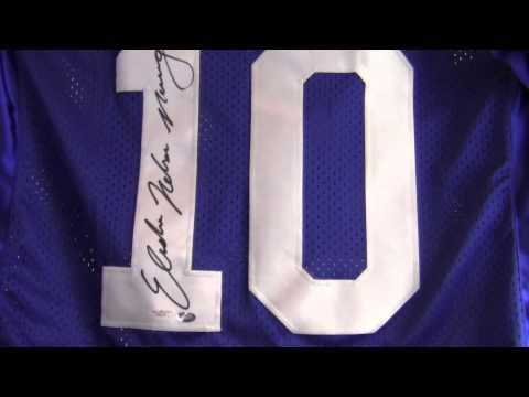 Eli Manning Autographed Custom Jersey W Elisha Nelson Manning Prostyle Jsa
