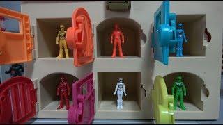 파워레인저 애니멀포스 미니 피규어 6단 차고지 출동 장난감 Power Rangers Doubutsu Sentai Zyuohger Mini figure Toys