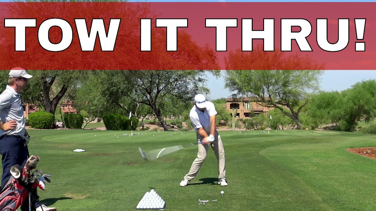 You have to TOW the GOLF CLUB through IMPACT, Collab with GOLFLETICS