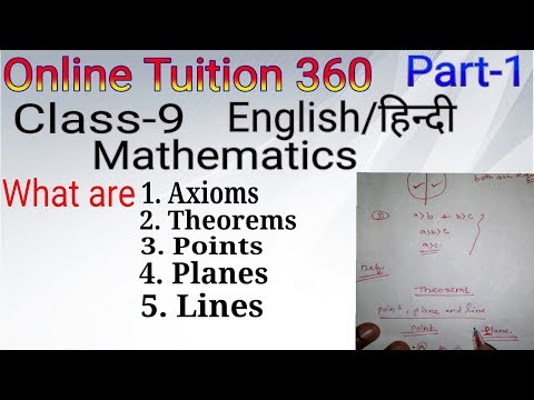 Geometry (Part 1). Definition of Axioms, Theorem, point, Plane and Line.