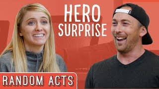 Hero Surprise Prank   Random Acts