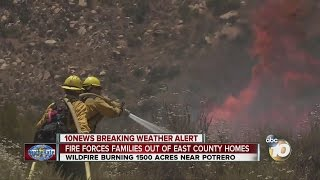 #BorderFire forces Potrero evacuations; 1,500 acres burned