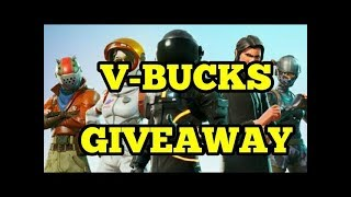 V-Bucks GIVEAWAY ! Fortnite battle royale season 3