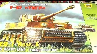 Сборная Модель Танк Тигр. Стендовый Моделизм. Сборная Модель Звезда Танк Тигр