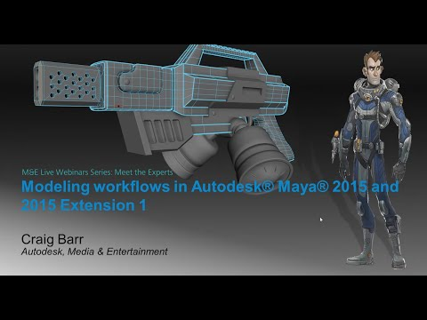 Meet the Experts: Modeling in Autodesk® Maya® 2015 is more powerful and faster than ever before