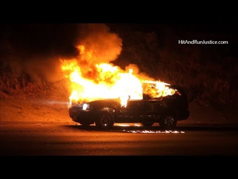 Homeless In Pasadena PT 128 A Car Fire Just Now!!! - YouTube