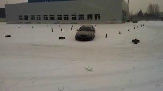 """Обучение приёмам безопасного вождения зимой от Центра вождения """"Карбон"""" www.carbon.co.ua"""