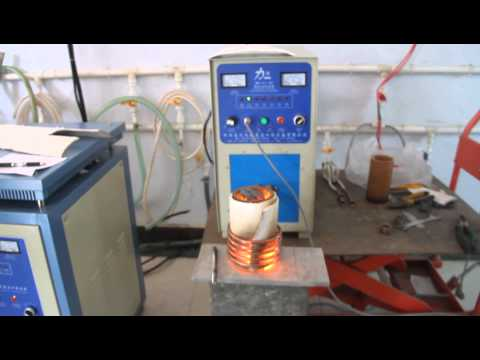 Small Induction Melting Furnace 30KW 5kg Copper Iron Smelt