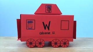 3D Paper Train Part 3: Caboose