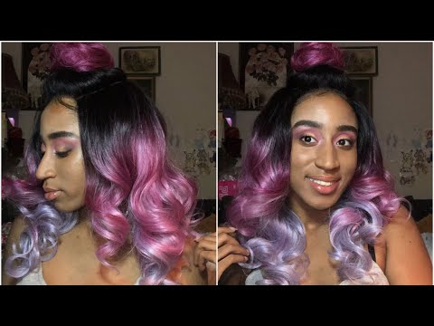 Multi Color Hair + Purple Neon Cut Crease Makeup Look | Tinashe Hair | MakeupTiffanyJ from YouTube · Duration:  39 minutes 42 seconds