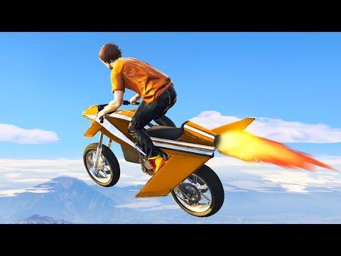 NEW $4,995,000 FLYING ROCKET BIKE! GTA 5 Gun Running DLC