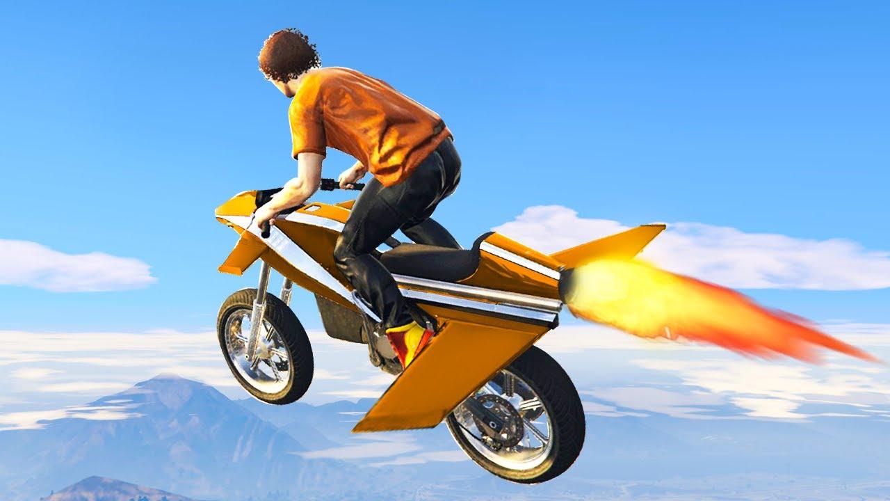 New 4 995 000 Flying Rocket Bike Gta 5 Gun Running Dlc Youtube