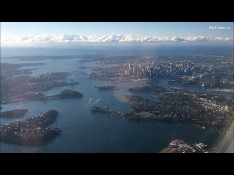 """Sydney Harbour View"" Morning Landing at Sydney Airport (SYD, YSSY) Virgin B737-800 23 August 2016"
