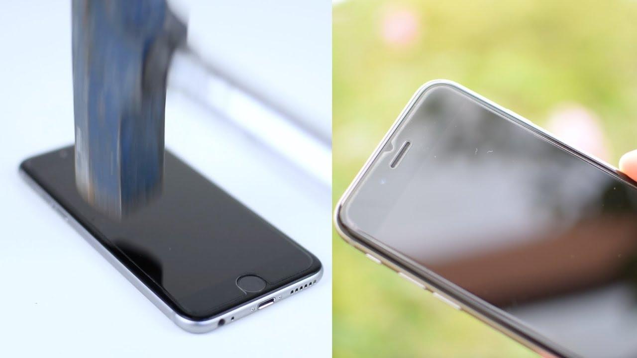 Hammer vs. iphone 6   mehr schutz durch panzerglas   youtube