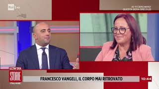 Https://www.raiplay.it/programmi/storieitaliane/ - a storie italiane l'intervista elsa tavella, la madre di francesco vangeli, sparito nel 2018, forse ucci...