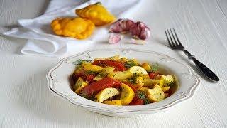 Кабачки с помидорами на сковороде