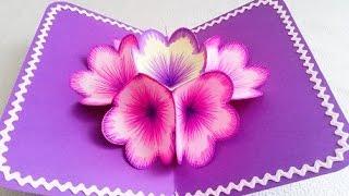 Diy 3d Flower Pop Up Card