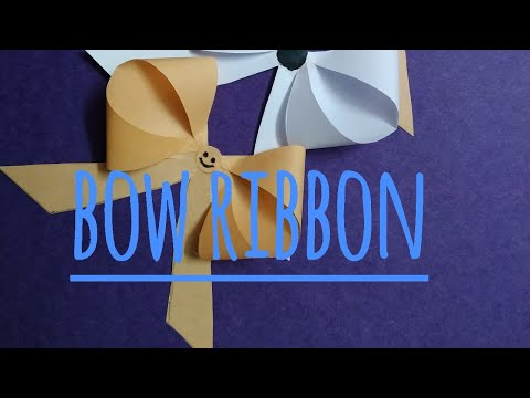 How to make paper bow | crafts | decor for function | sweety trendzzz