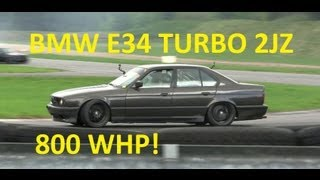 BMW E34 TURBO 2JZ 800 WHP MONSTER by JAAS