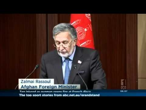 Afghan foreign minister discusses donations