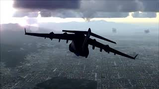 C-17 Globemaster flying over Los Angeles - [Runsame Classics] FSX