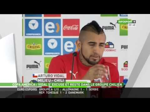arturo vidal s 39 excuse apr s son accident en tat d 39 youtube. Black Bedroom Furniture Sets. Home Design Ideas