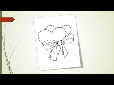 Картинки на сърца за оцветяване