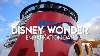 Disney Wonder   Embarkation Day & Sail Away Party!