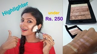 Best Highlighter under Rs. 250 || Sivanna Shimmer Brick 02 || Review || Its makeover tym
