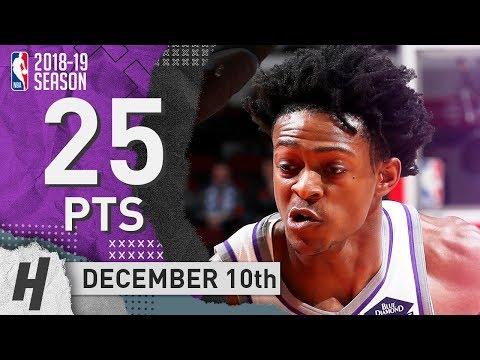 De'Aaron Fox Full Highlights Kings vs Bulls 2018.12.10 - 25 Pts, 6 Ast, 4 Rebounds!