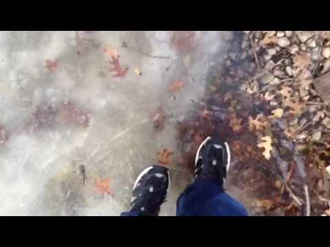 Walking on thin ice: ice cracking and shattering