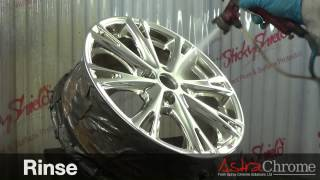 The AstraChrome System in Action - Alloy wheel chromed
